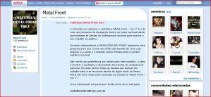 Comunidade Orkut Metal Front